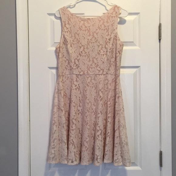 065f65ea324e Macy's Dresses | Nwt Macys Blush Lace Dress Juniors Xl | Poshmark